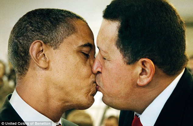 obama kissing chavez