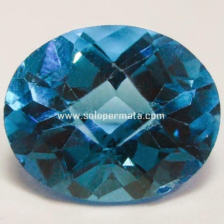 Batu Permata London Blue Topaz - SP049