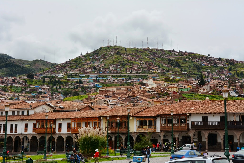 Plaza de Armas Cusco Mountain