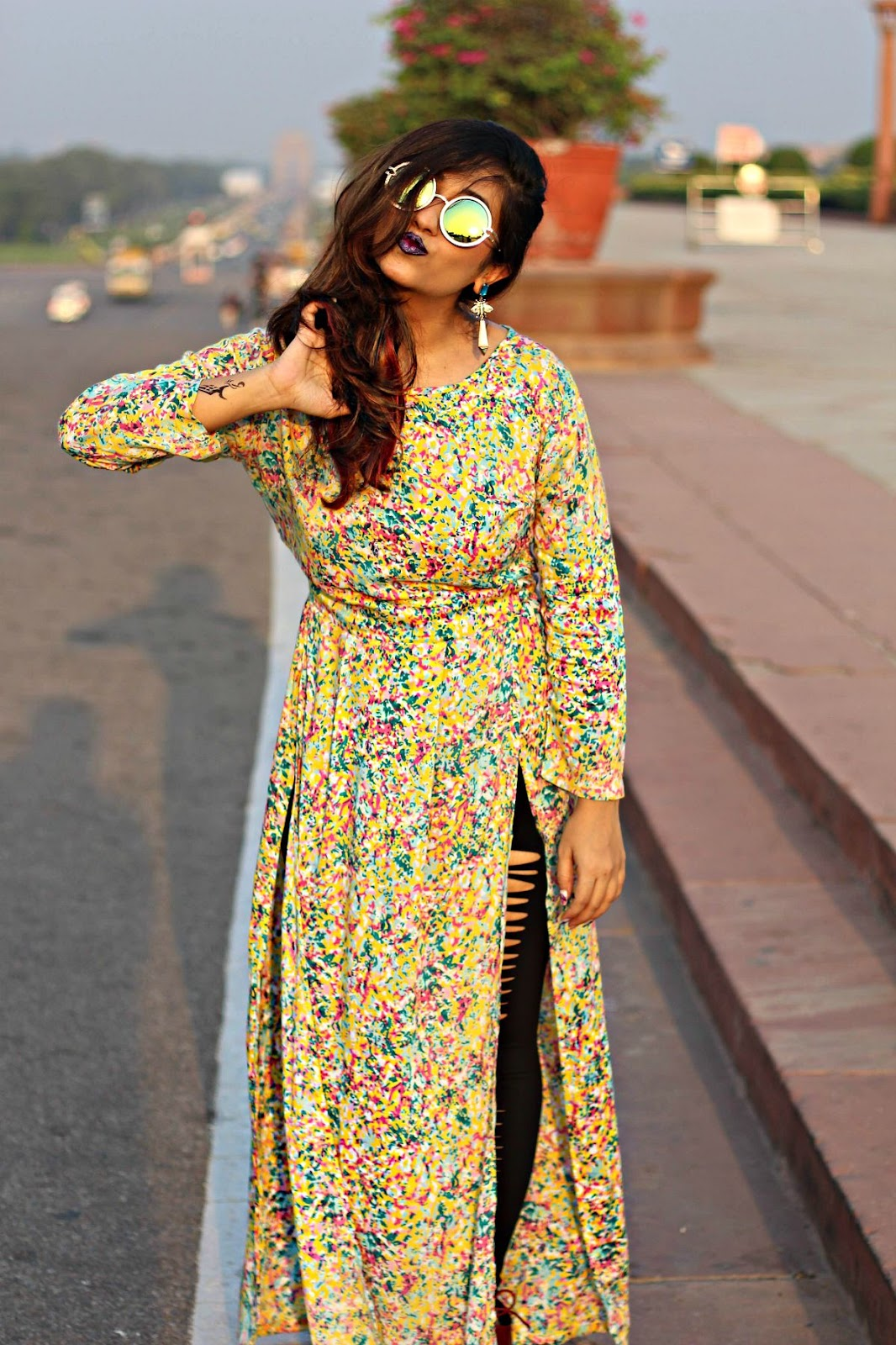 kurti with slits, jabong long top styles