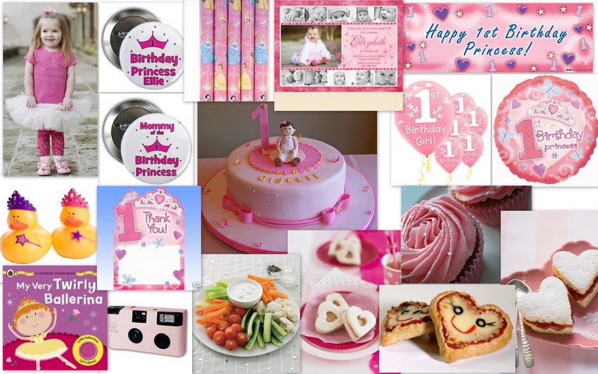 I Have A Theme Girls 1st Birthday Princess Party