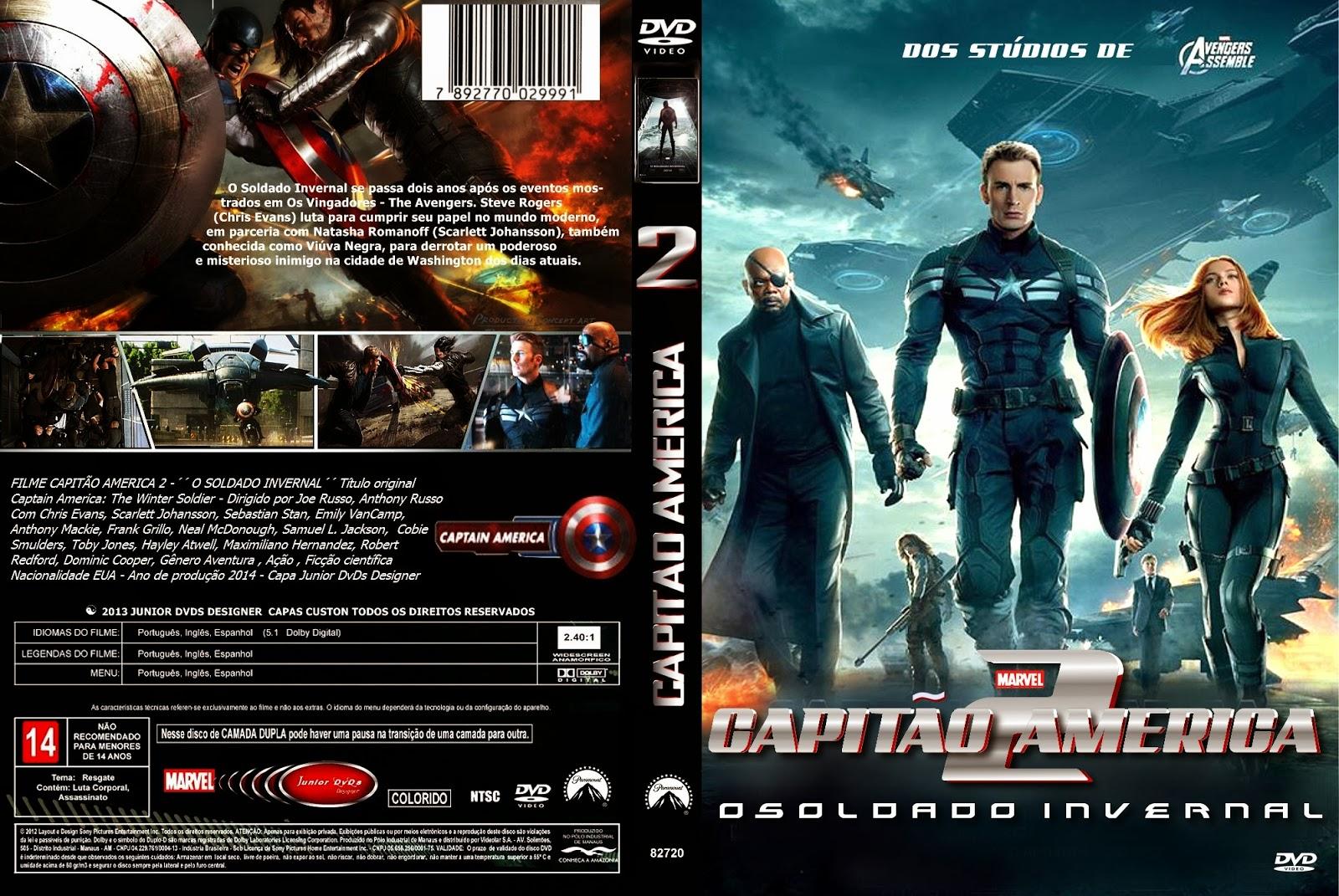 Filmes Russos for junior dvds : capa do filme capiÃo america 2 - capa 3 - junior