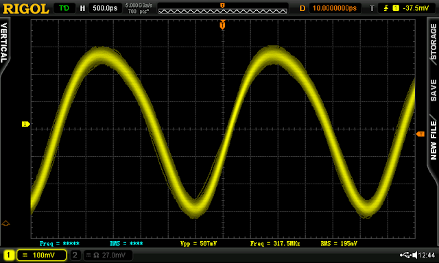 Above — Time domain output showing harmonics.