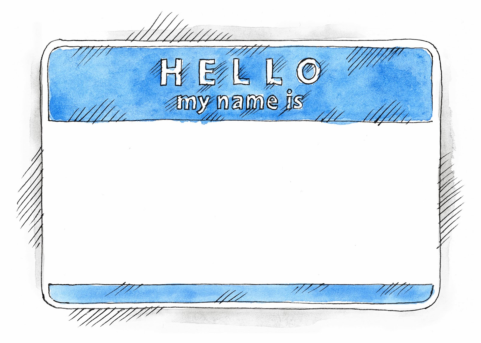 Download FREE EPS and PSD Watercolor Empty Blank Name Tag HELLO My Name Is with shadow isolated on white background. This vector illustration clip-art element for design saved in 10 eps