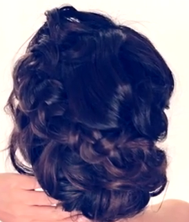 braided updo hairstyle for prom and weddings