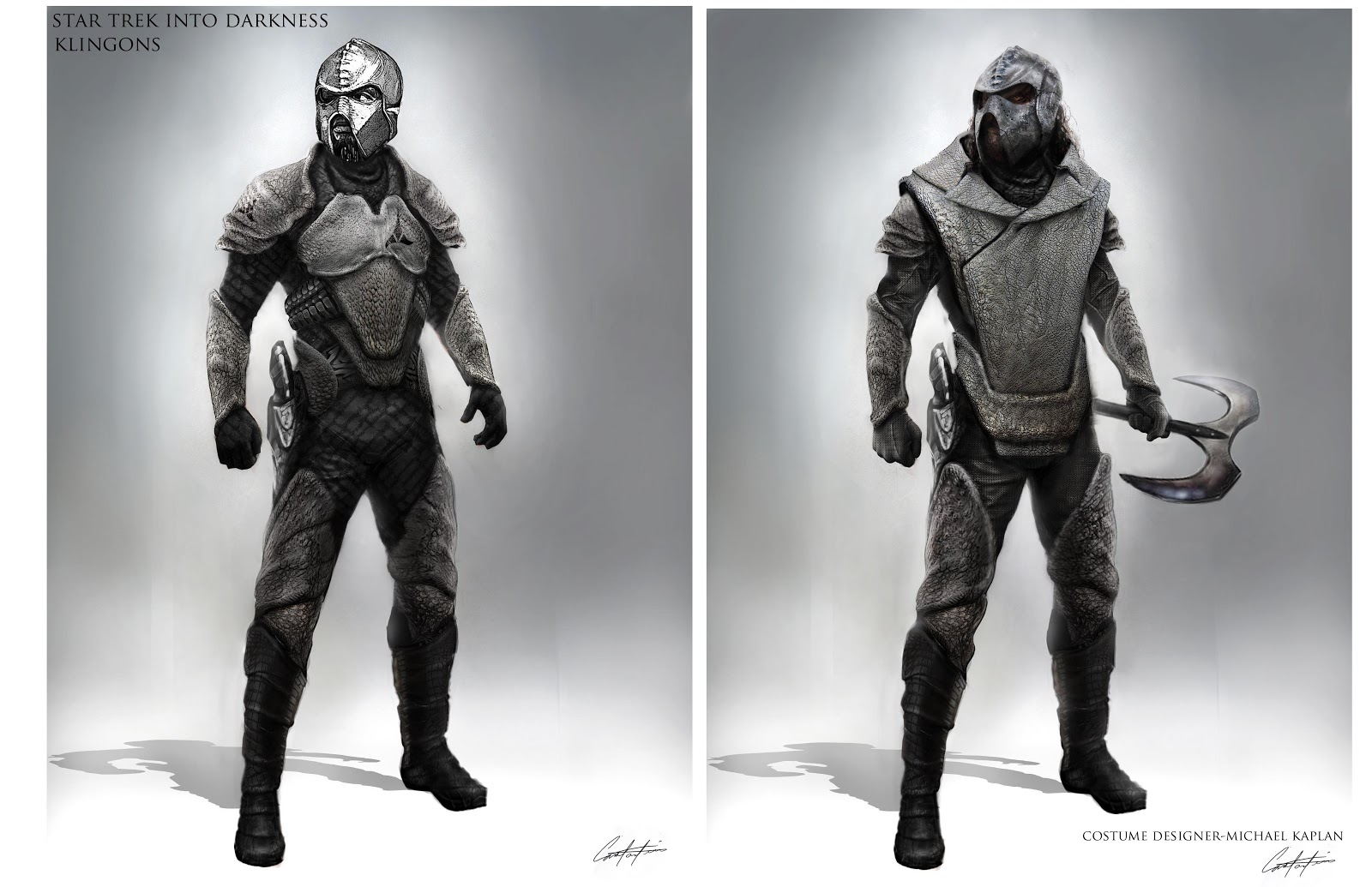 Star trek into darkness spacesuit klingon and alien concept designs