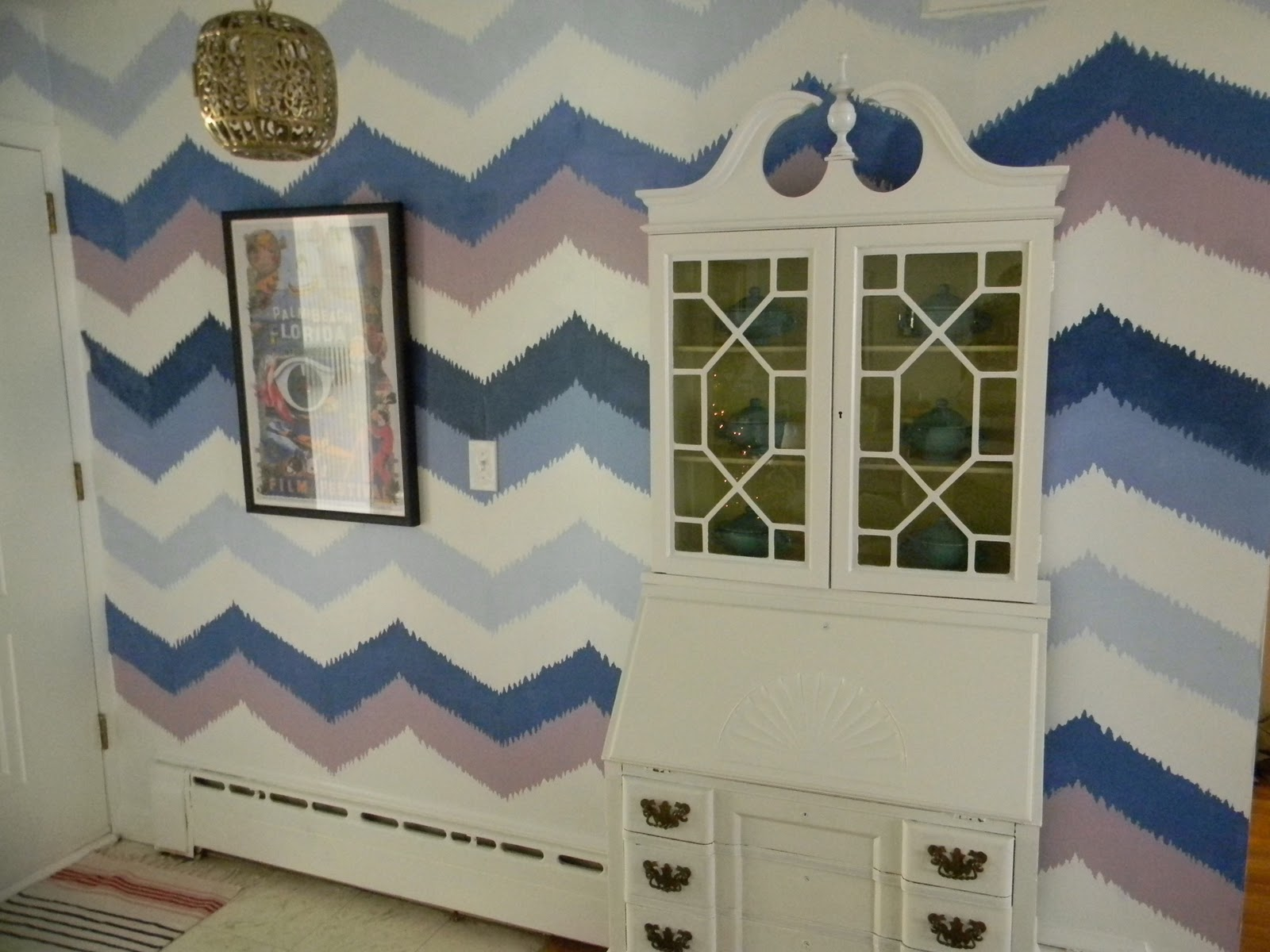 Gorgeous shiny things painted ikat chevron wall for Things to paint on your wall