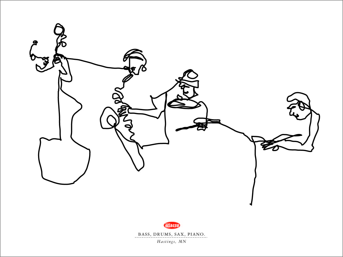 Line Drawing In Html : One line drawings jazz players wacso