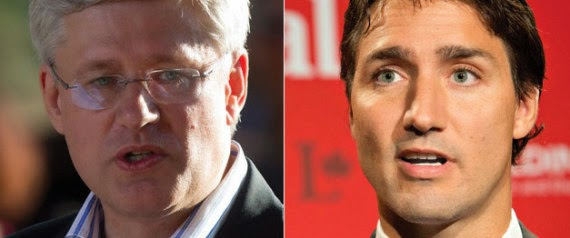 Harper Conservatives Behind Trudeau and the Liberals with 41 per cent..the Conservatives at 32!!.