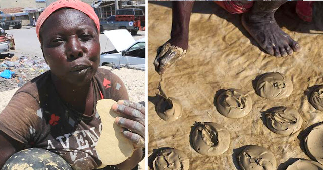 Poor Haitians Eat Mud Cookie to Survive