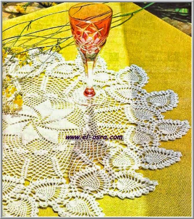 Patrón de carpeta circular para tejer con ganchillo
