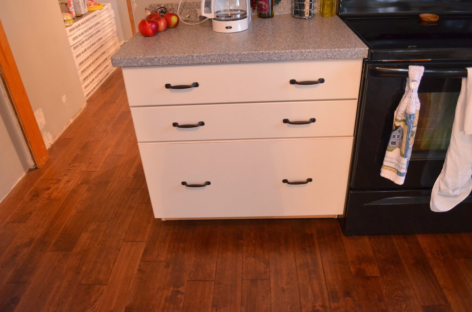 My huge drawers for pots and pans