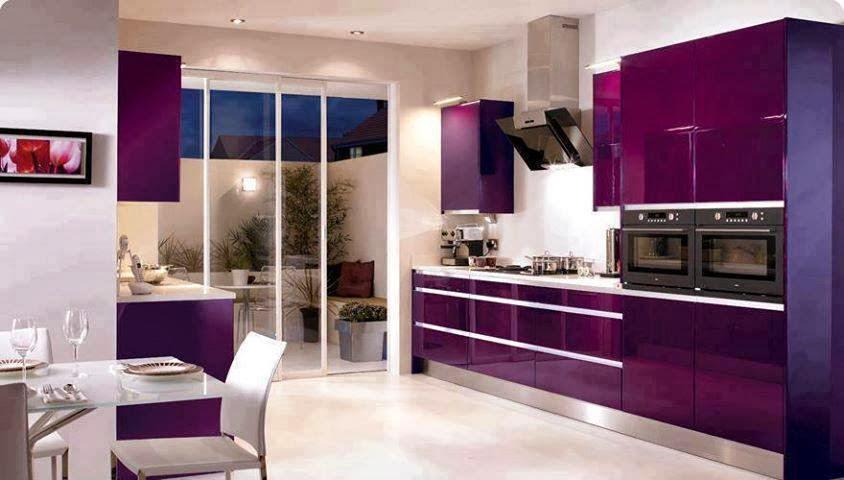 Kitchens With Violet Color 2014 Tent London Designs