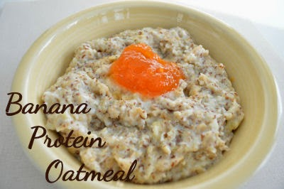 Banana Protein Oatmeal | seriously-lovely.blogspot.com