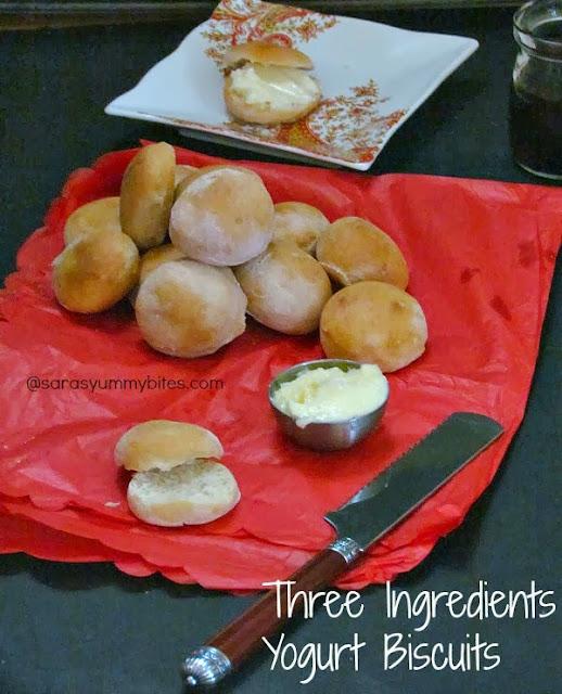 Three Ingredients Yogurt Biscuits