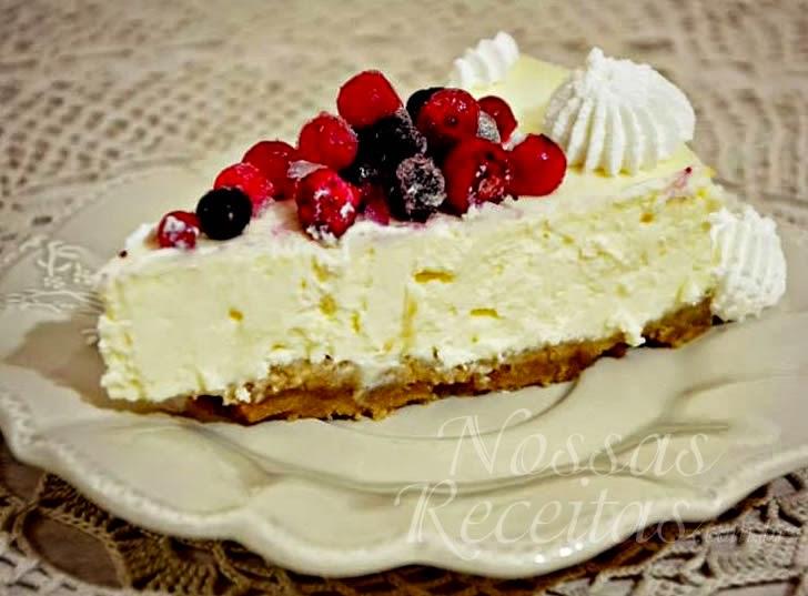 Receita sobremesa Cheesecake nova yorkino