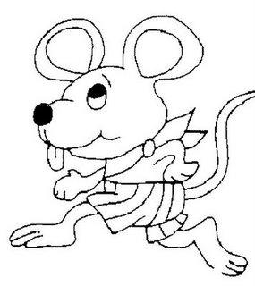 Risco para pintura de ratinho
