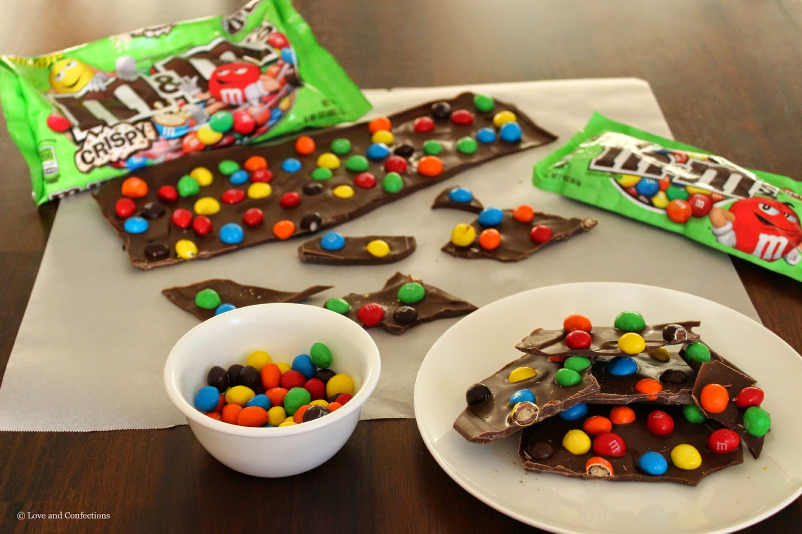 M&M's® Crispy Bark by LoveandConfections.com