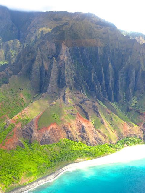 Na Pali coast napali cathedral rock formation hawaii kauai ocean front beach mountains