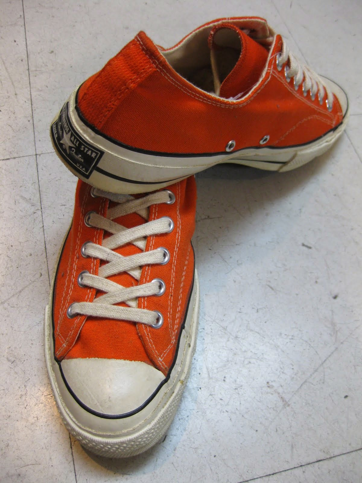 60's~70's CHUCK TALOR LO.  ORANGE                MINT コンディション