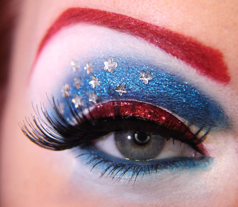 Captain America eye makeyp by Jangsara