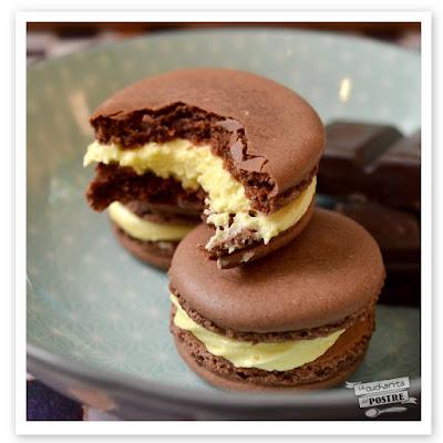 Macarons De Chocolate Y Fruta De La Pasión / Chocolate And Passionfruit Macarons