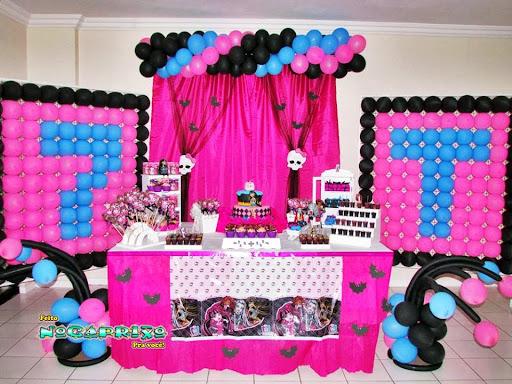 Decoração de Balões - Monster High