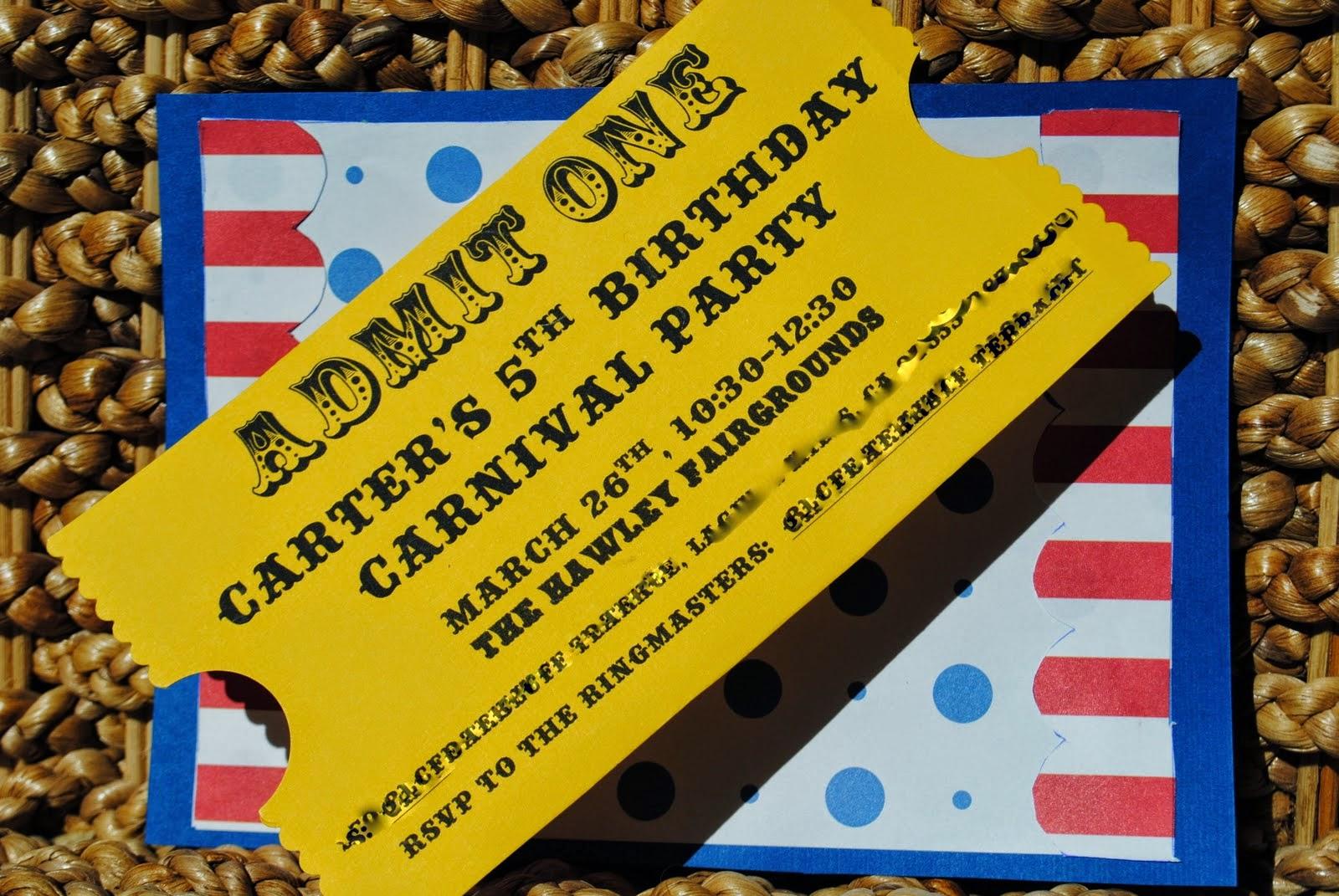 fun n frolic party theme circus invitations