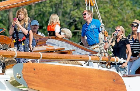 Dutch Royal Family At Sail Amsterdam 2015