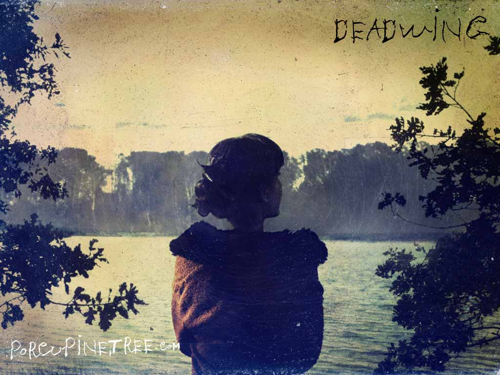Band Porcupine Tree Cover Art of Girl staring into lake Album Deadwing
