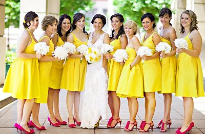 Yellow Bridal Party Dress