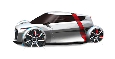 audi urban concept carbon fiber electric city car
