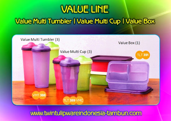 Value Multi Tumbler | Multi Cup | Box - Produk Baru Tulipware 2014