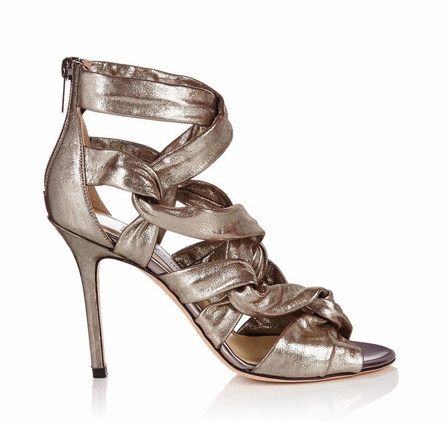Jimmy Choo Kami Gunmetal Leather Heels