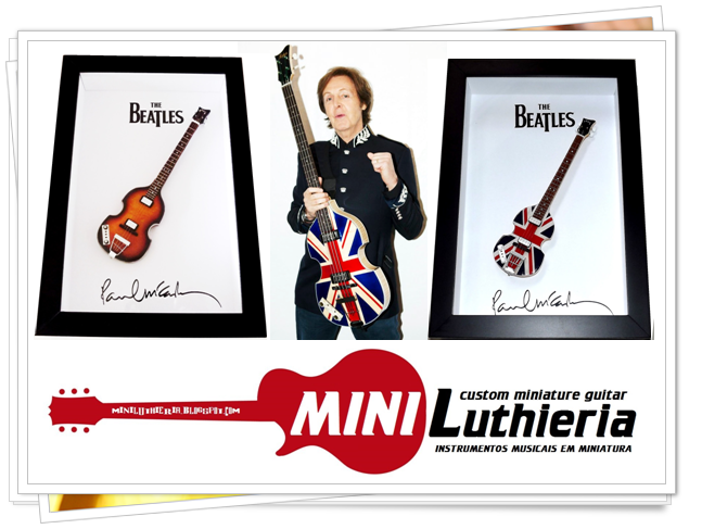 Quer ganhar uma miniatura do Hofner Violin Bass, instrumento de longa data do Beatle Paul McCartney?