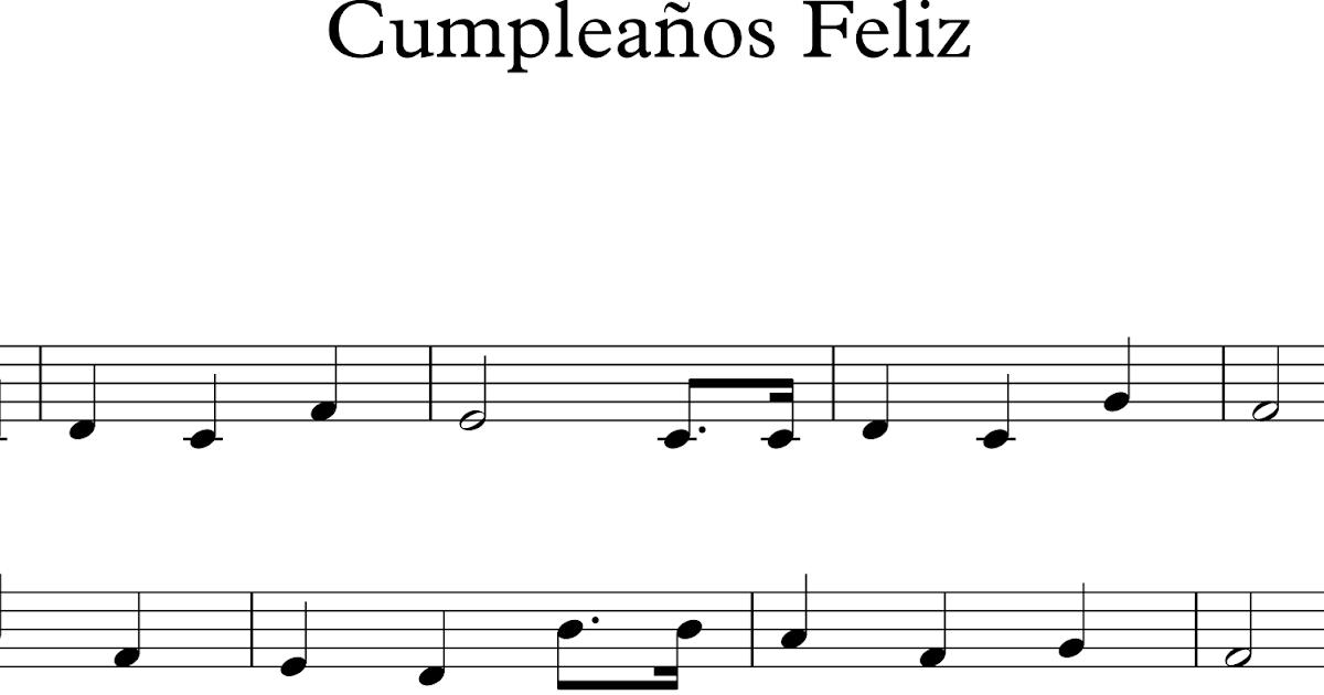 Descubriendo la m sica partituras para flauta dulce o de pico cumplea os feliz - Cumpleanos feliz piano ...