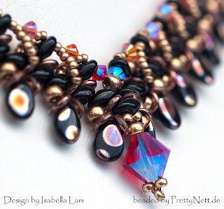"Necklace ""Duo Pip"" beaded by PrettyNett.de"