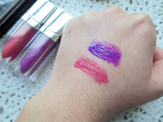 a picture of  Maybelline Color Elixir in Captivating Carnation and Vision In Violet  (swatch)