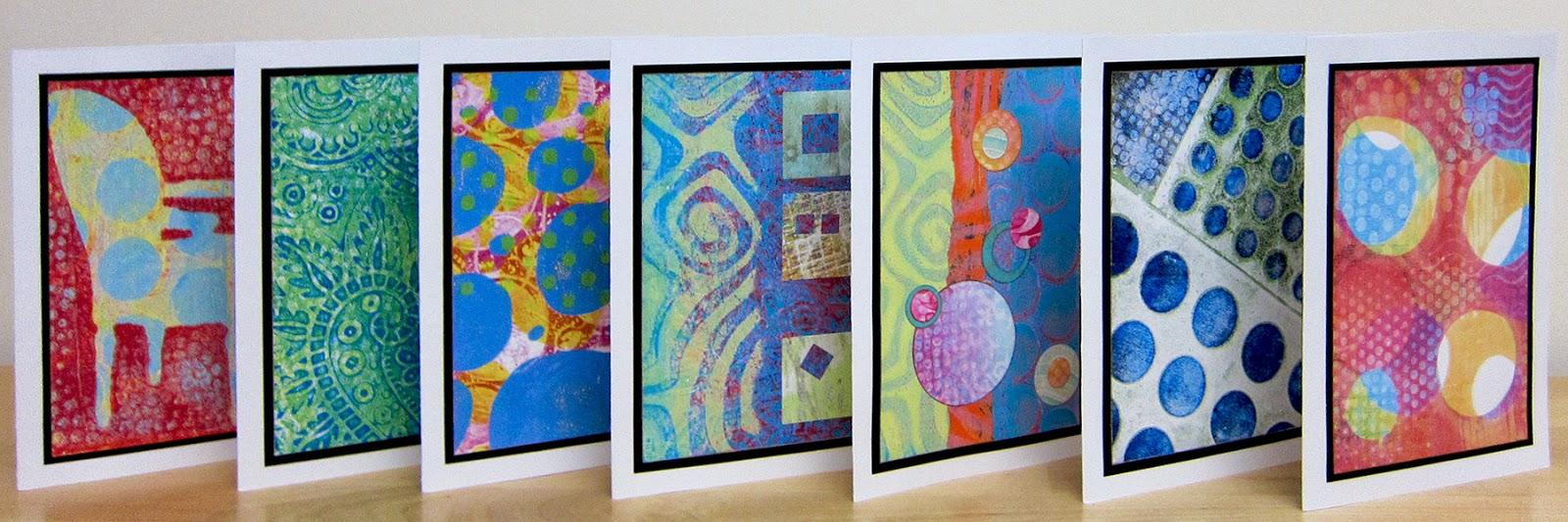 gelli plate 3 x 5 inches gelli arts monoprinting tag art