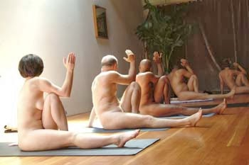Doing Yoga Naked