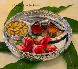 Ugadi Pachchadi, ugadi festival, telugu new year, shadruchulu recipe, six taste of ugadi, indian