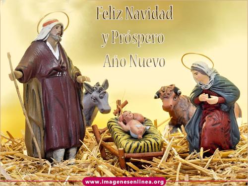 Feliz navidad y Próspero Año Nuevo, imagenes de nacimiento de Jesús.