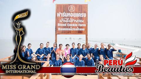 Candidatas visitan pueblos de la provincia de Samut Songkhram - Miss Grand International 2015