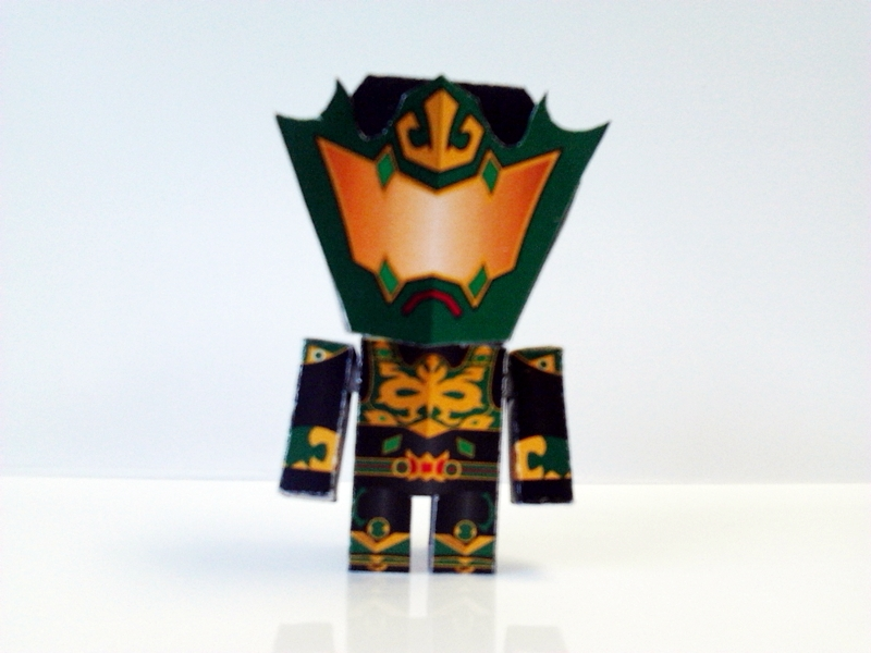 Naka the Battler Papercraft