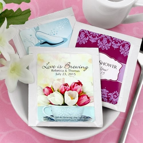 bridal shower tea bag favors