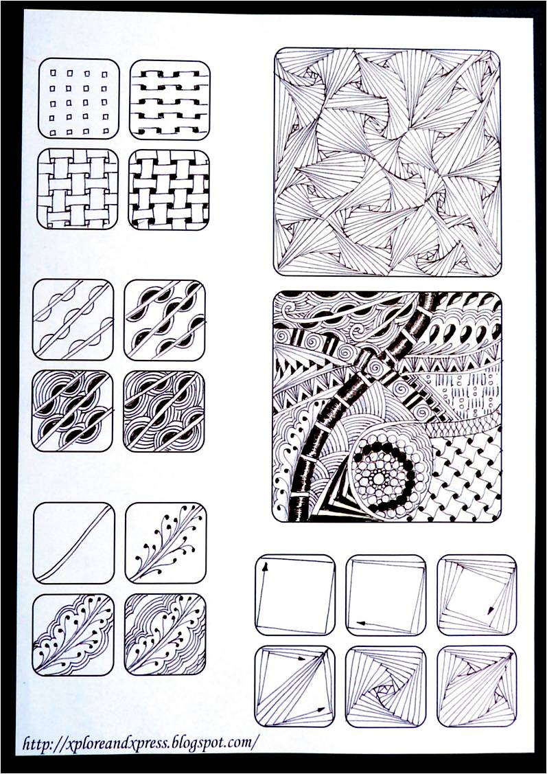 Zentangle Patterns Tutorial Below is a  quot wordless tutorial quot Zentangle Patterns Tutorial