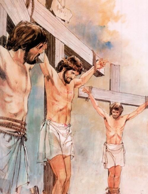 el ladron en la cruz: