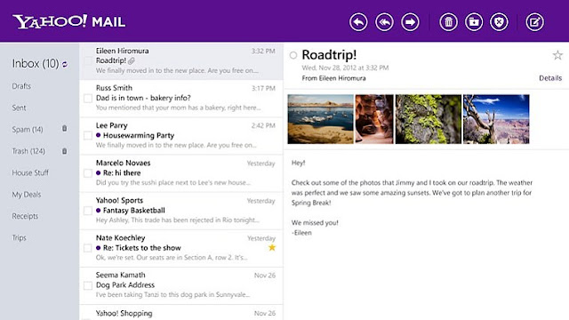 YAHOO MAIL WILL LOOOK LIKE IN THIS NEW LOOK
