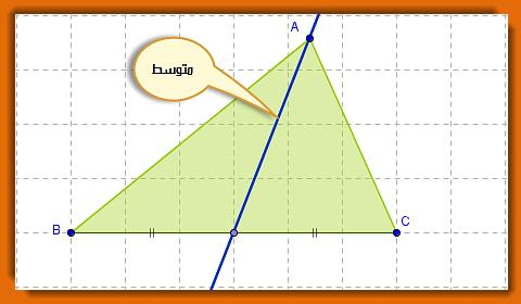 متوسط مثلث