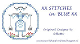 XX STITCHES in BLUE XX  DESIGNS BY HETTI